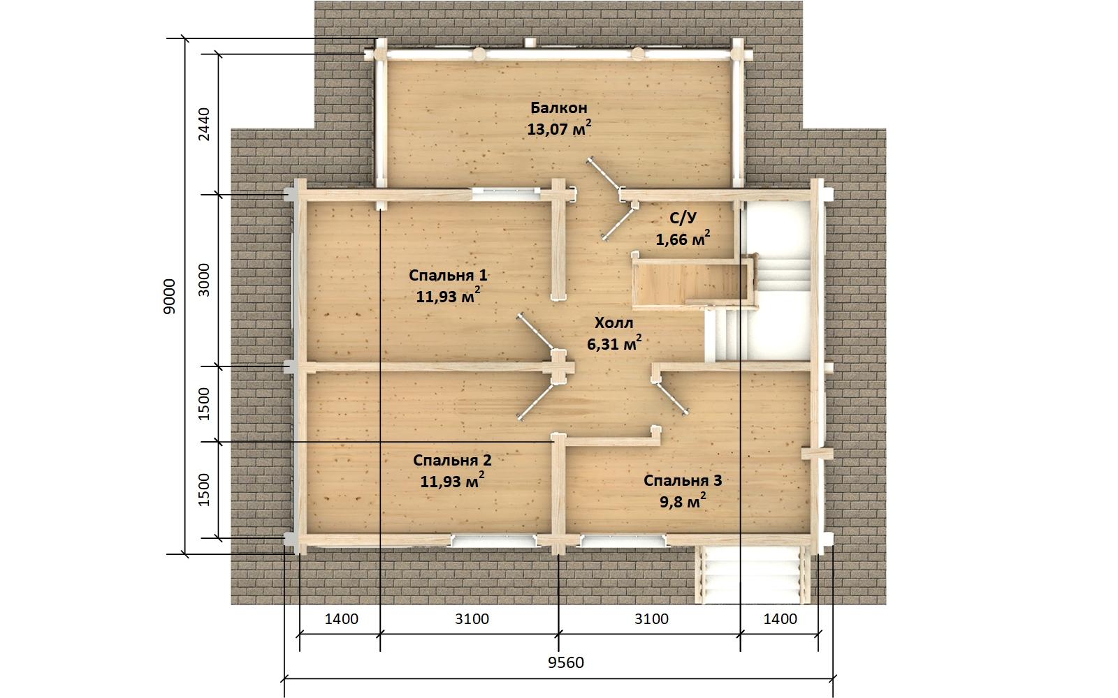 Фото #5: Красивый деревянный дом РС-142 из бревна