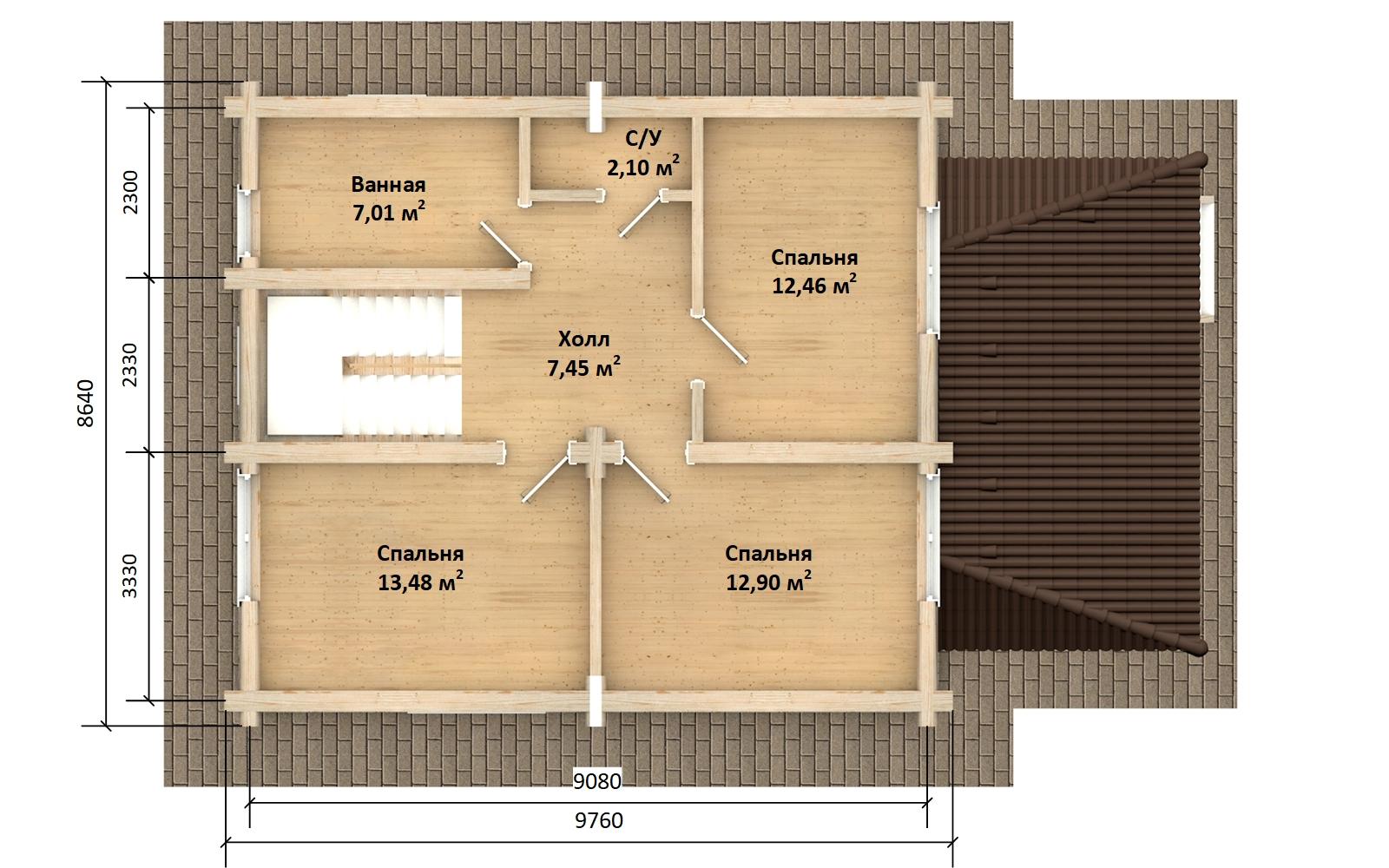 Фото #5: Красивый деревянный дом РС-145 из бревна