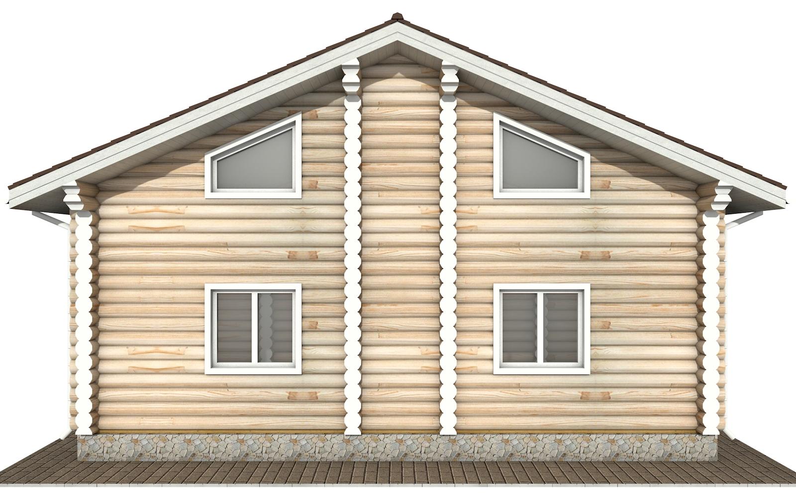 Фото #8: Красивый деревянный дом РС-144 из бревна