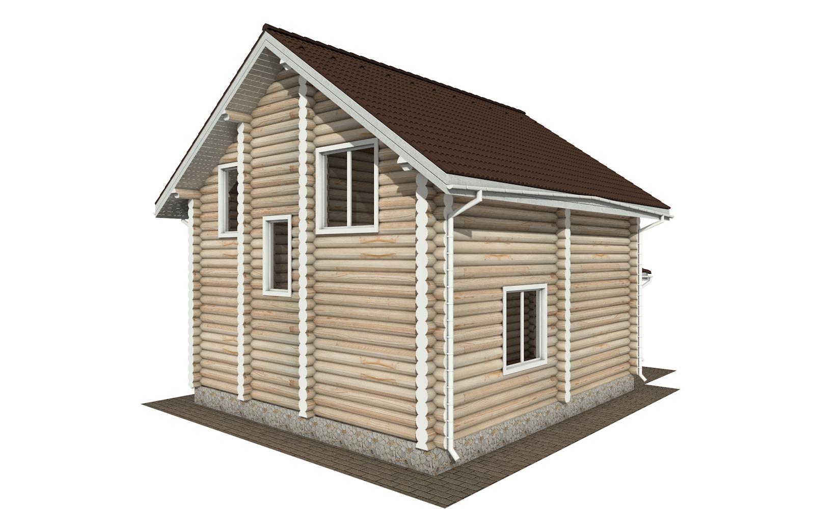 Фото #3: Красивый деревянный дом РС-145 из бревна