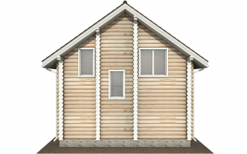 Фото #9: Красивый деревянный дом РС-145 из бревна