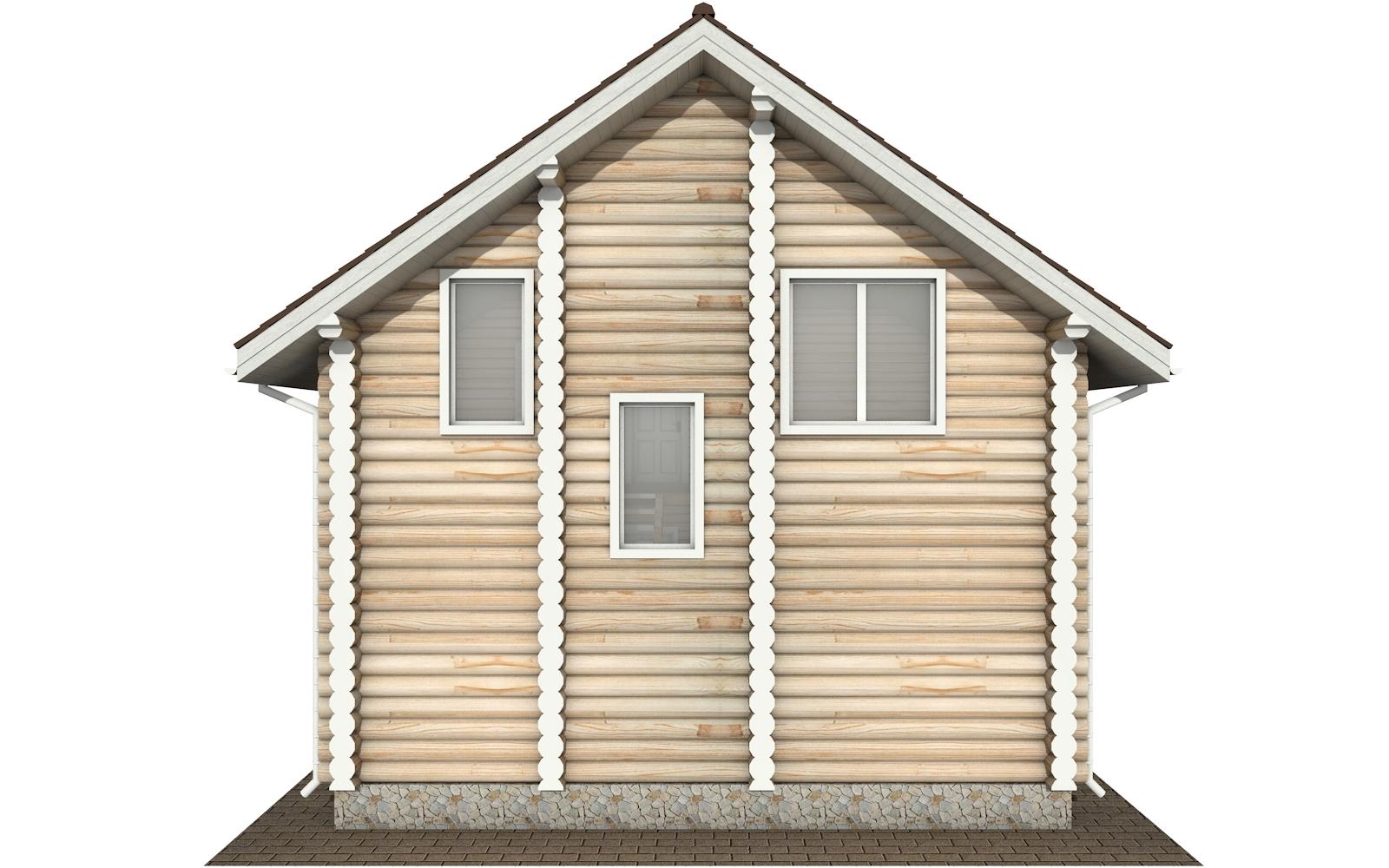 Фото #8: Красивый деревянный дом РС-145 из бревна