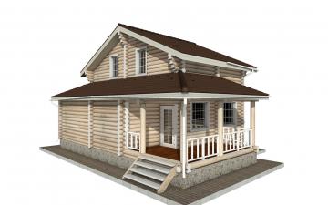 Фото #2: Красивый деревянный дом РС-141 из бревна