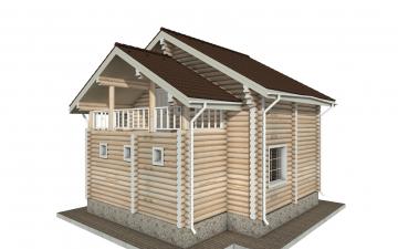 Фото #3: Красивый деревянный дом РС-142 из бревна