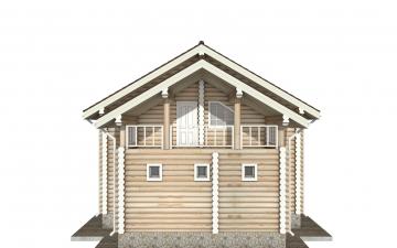 Фото #8: Красивый деревянный дом РС-142 из бревна
