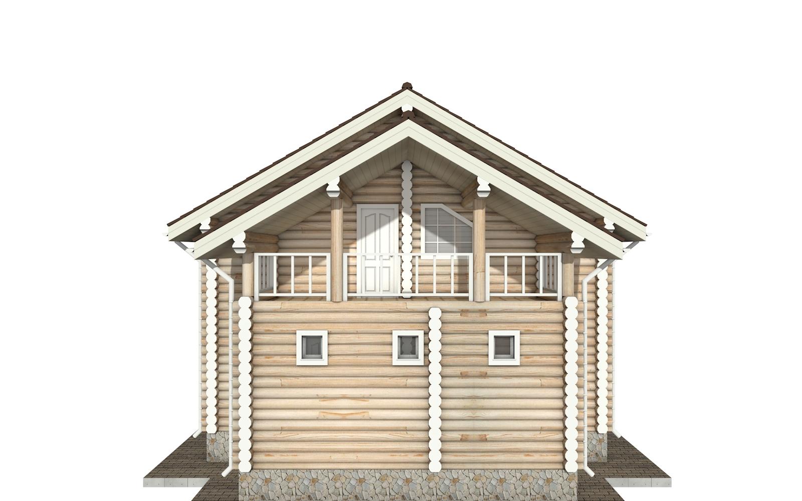Фото #7: Красивый деревянный дом РС-142 из бревна