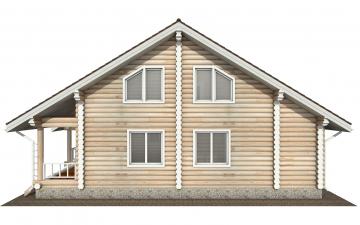Фото #9: Красивый деревянный дом РС-143 из бревна