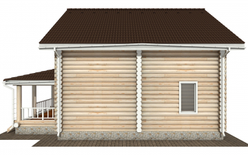 Фото #10: Красивый деревянный дом РС-145 из бревна