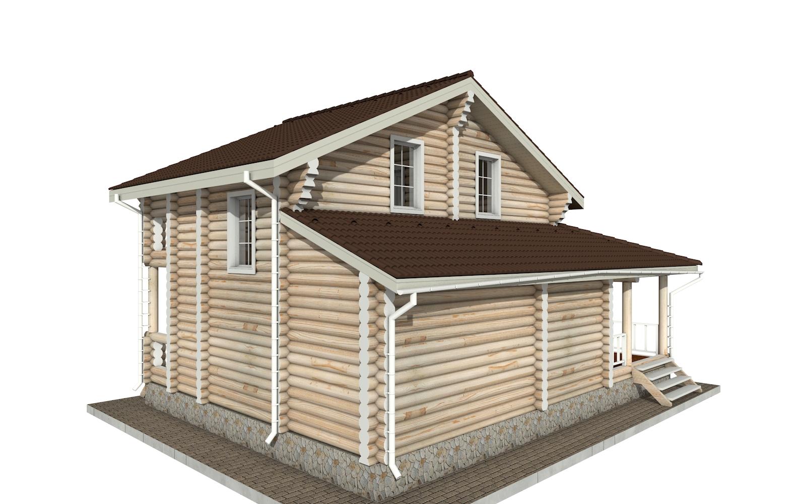 Фото #3: Красивый деревянный дом РС-141 из бревна