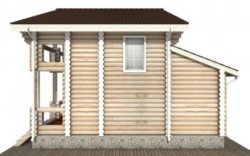 Фото #10: Красивый деревянный дом РС-141 из бревна
