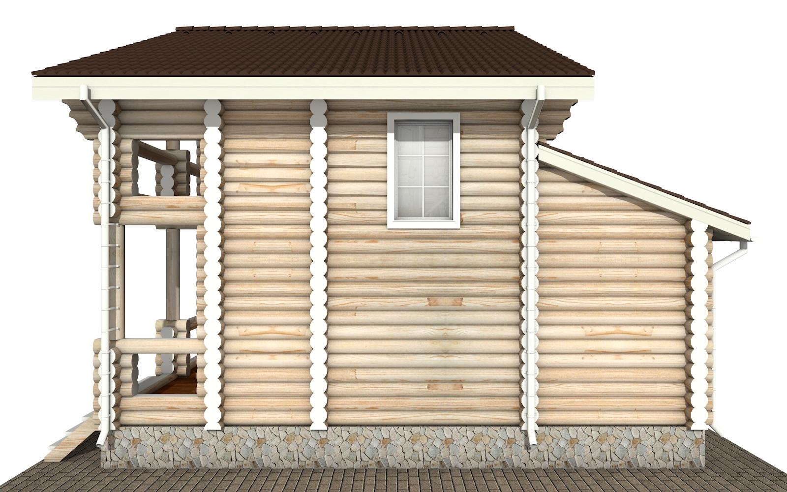 Фото #9: Красивый деревянный дом РС-141 из бревна