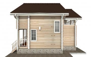 Фото #10: Красивый деревянный дом РС-142 из бревна