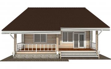 Фото #10: Красивый деревянный дом РС-143 из бревна