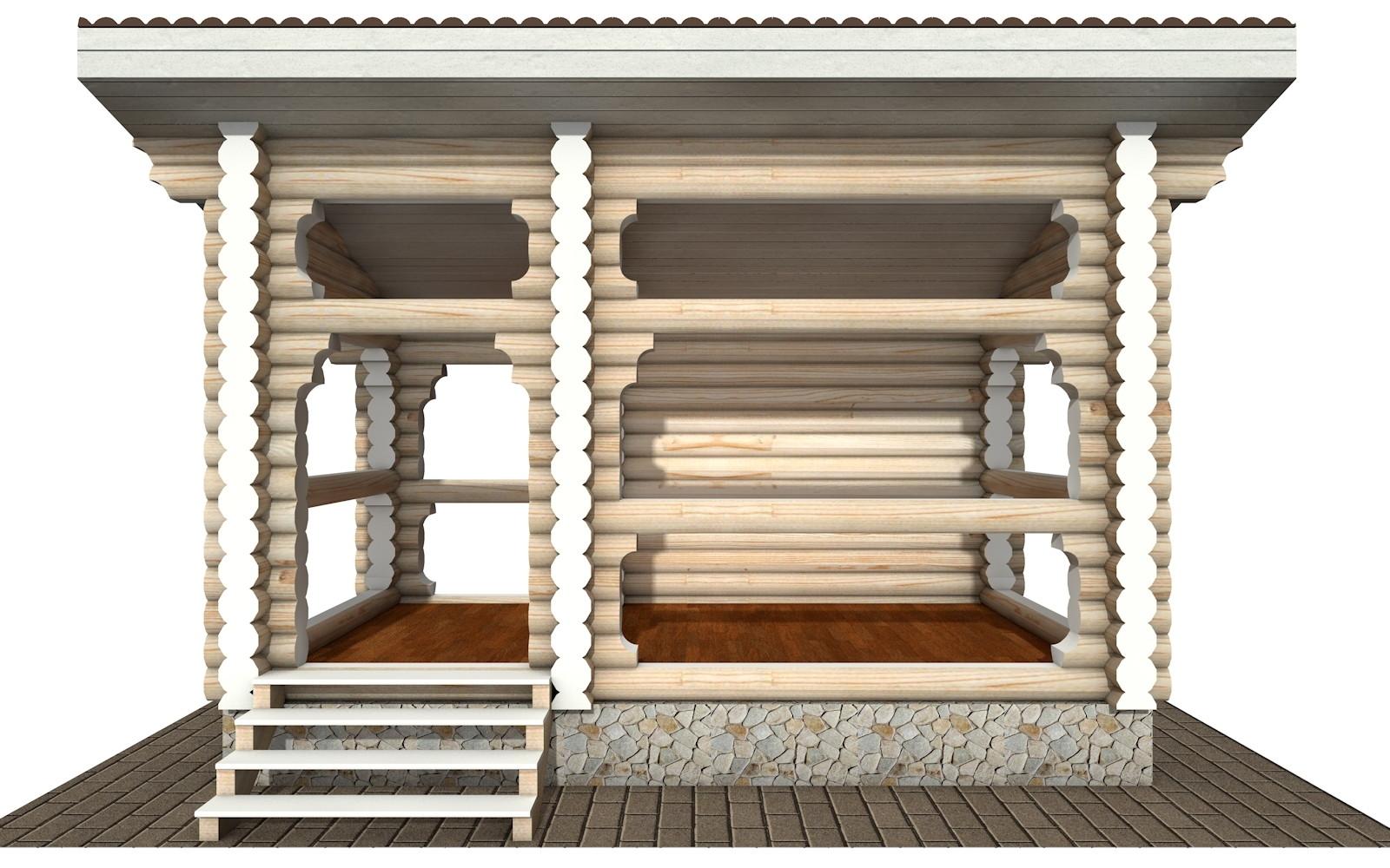 Фото #5: деревянная беседка БС-18 из бревна