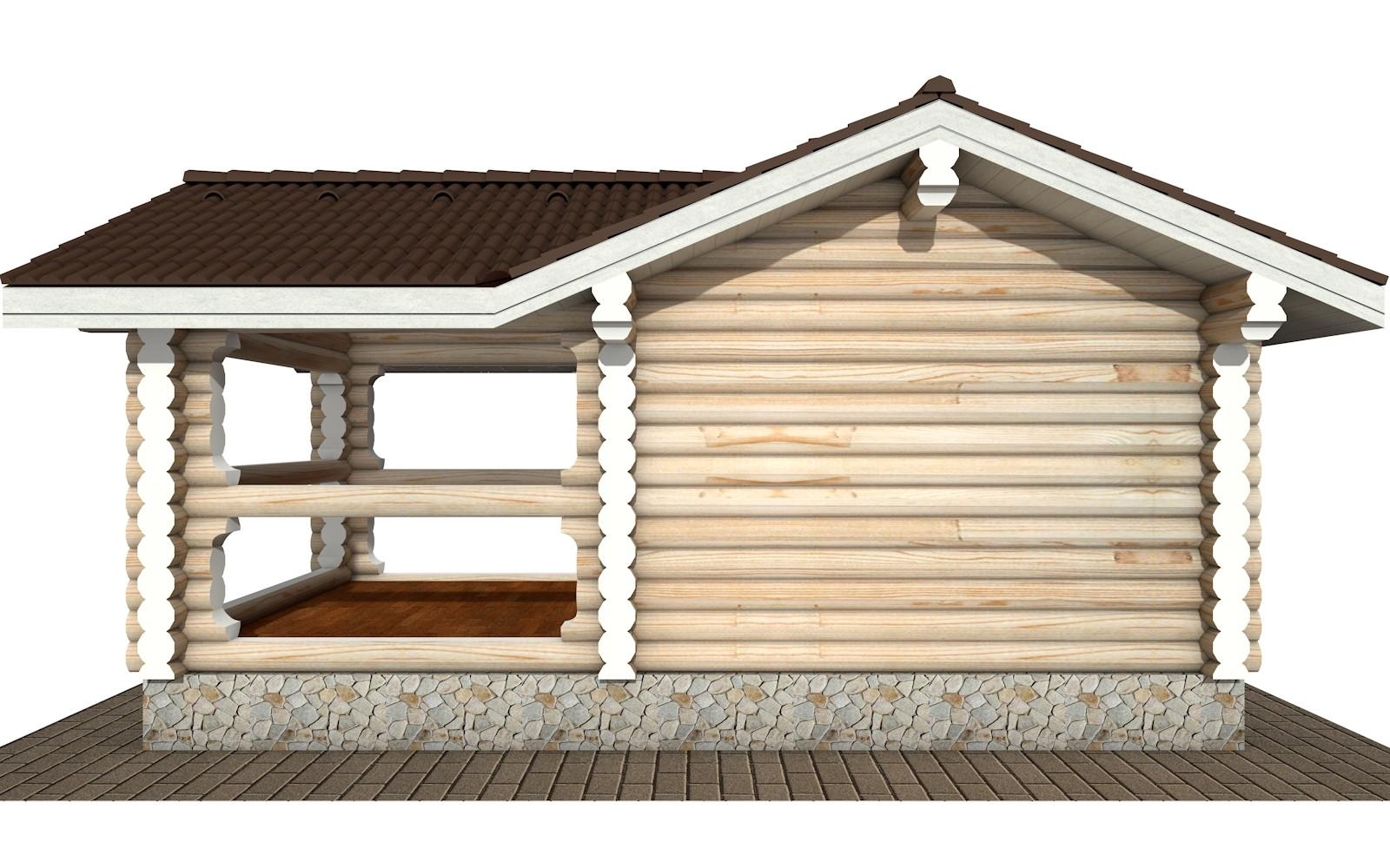 Фото #7: деревянная беседка БС-19 из бревна