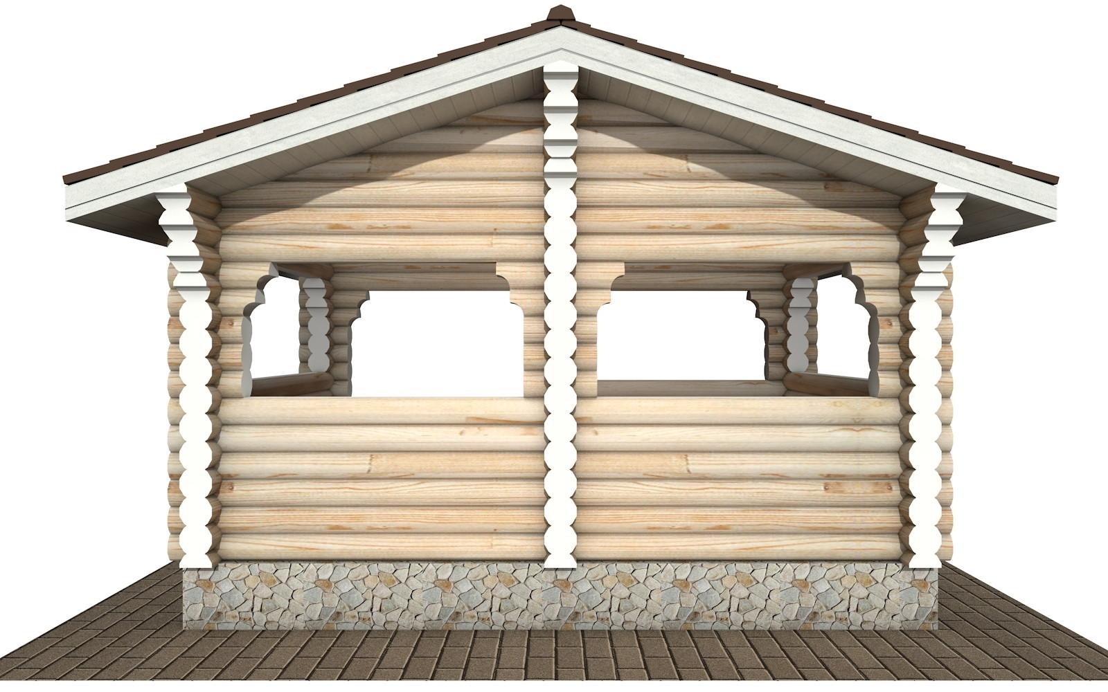 Фото #7: деревянная беседка БС-21 из бревна