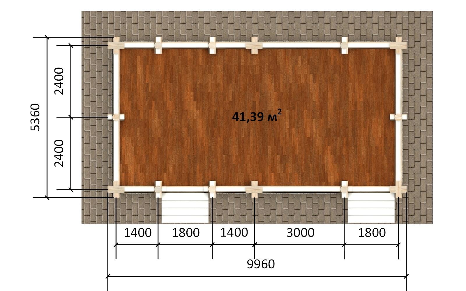 Фото #4: деревянная беседка БС-10 из бревна