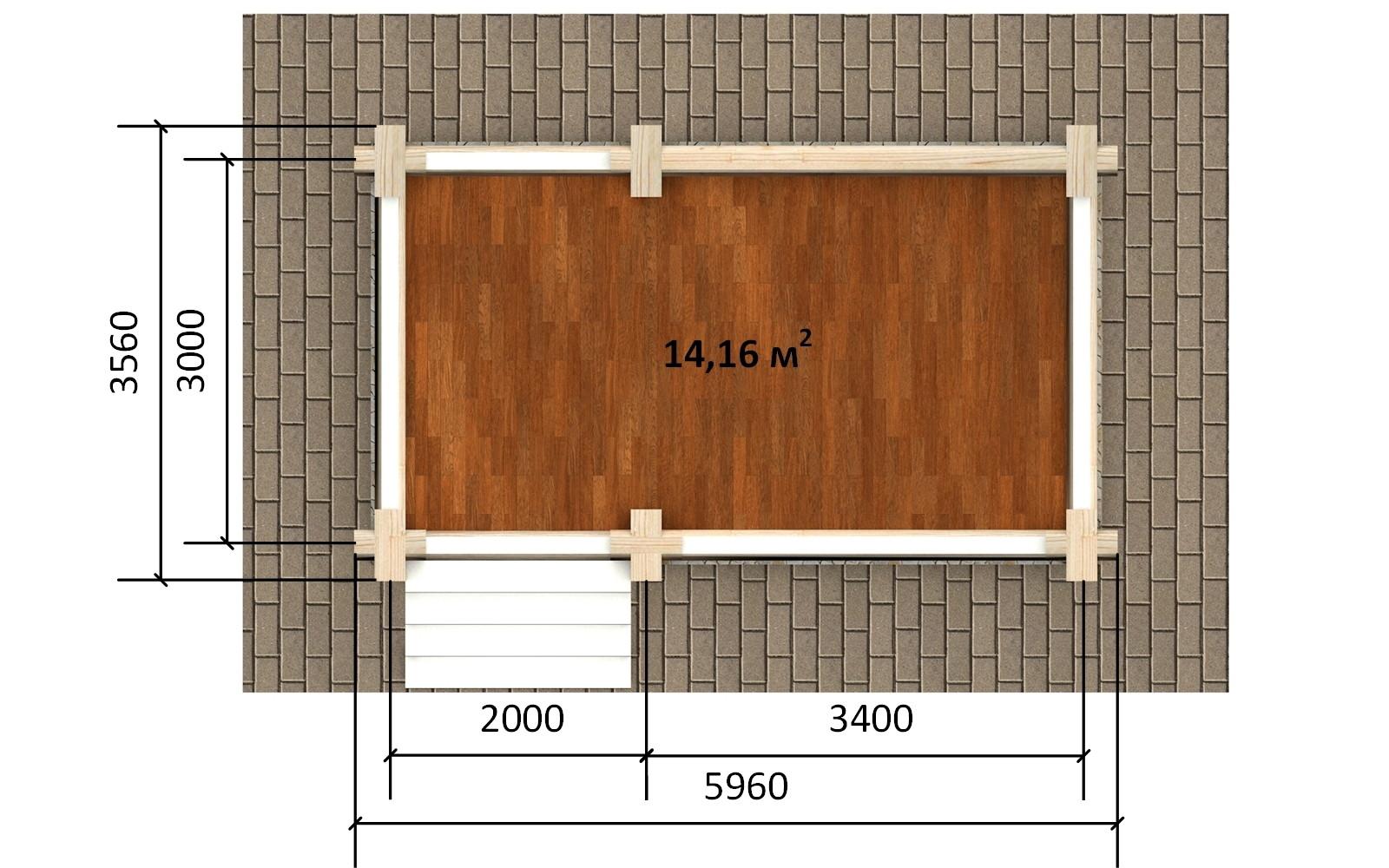 Фото #4: деревянная беседка БС-18 из бревна
