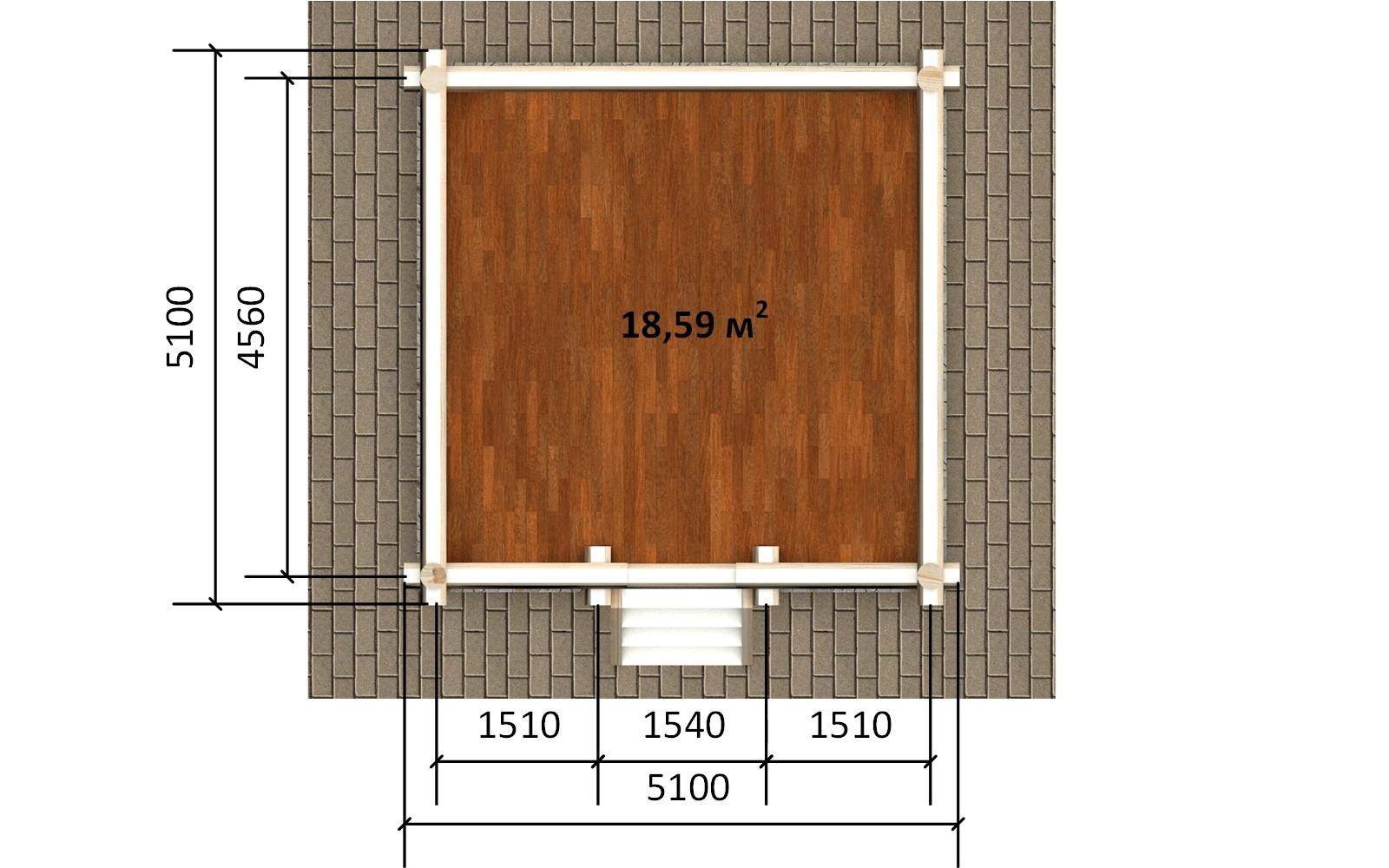 Фото #4: деревянная беседка БС-4 из бревна