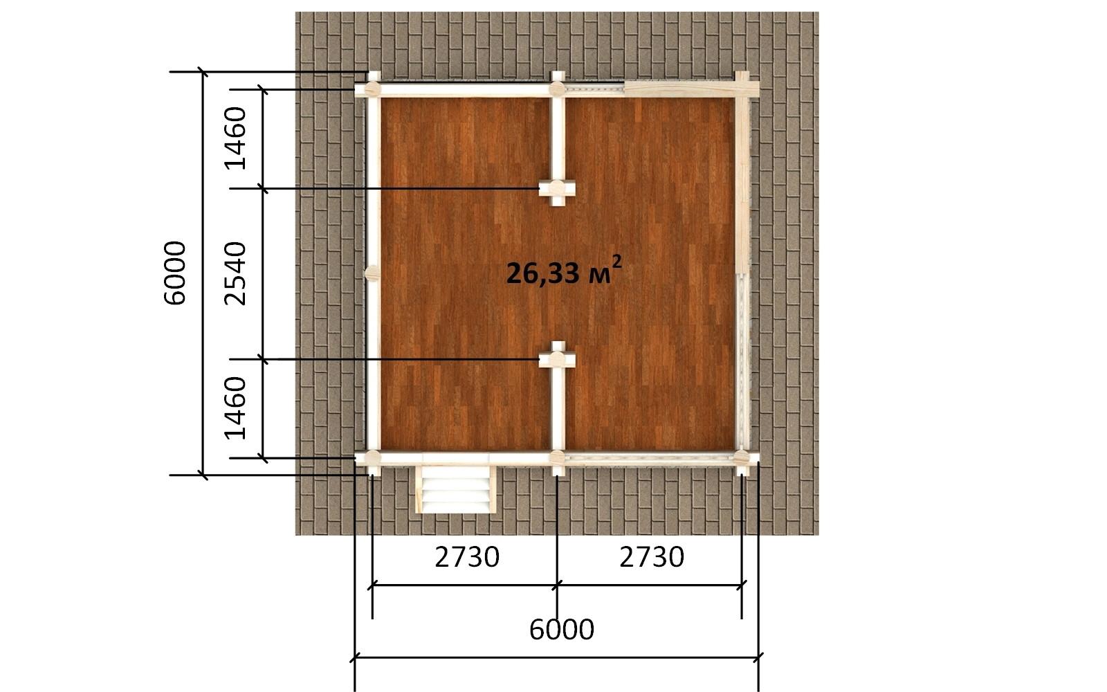 Фото #4: деревянная беседка БС-8 из бревна