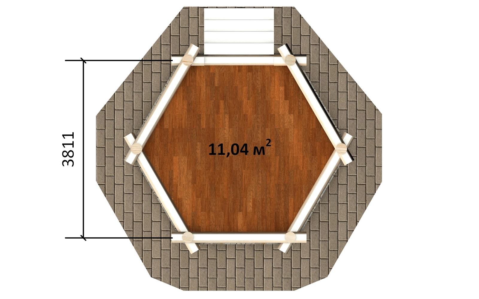 Фото #4: деревянная беседка БС-9 из бревна