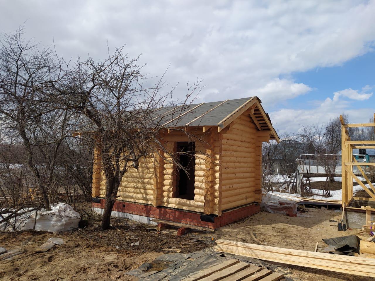 Фото: Баня 6х4 из остроганного бревна в Нижегородской области