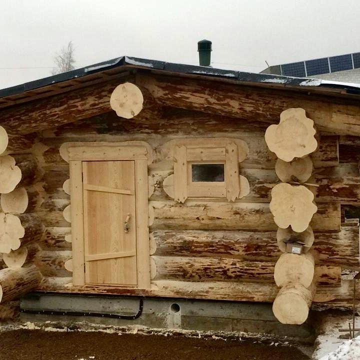 Фото: Баня из «Дикого» сруба в Московской области