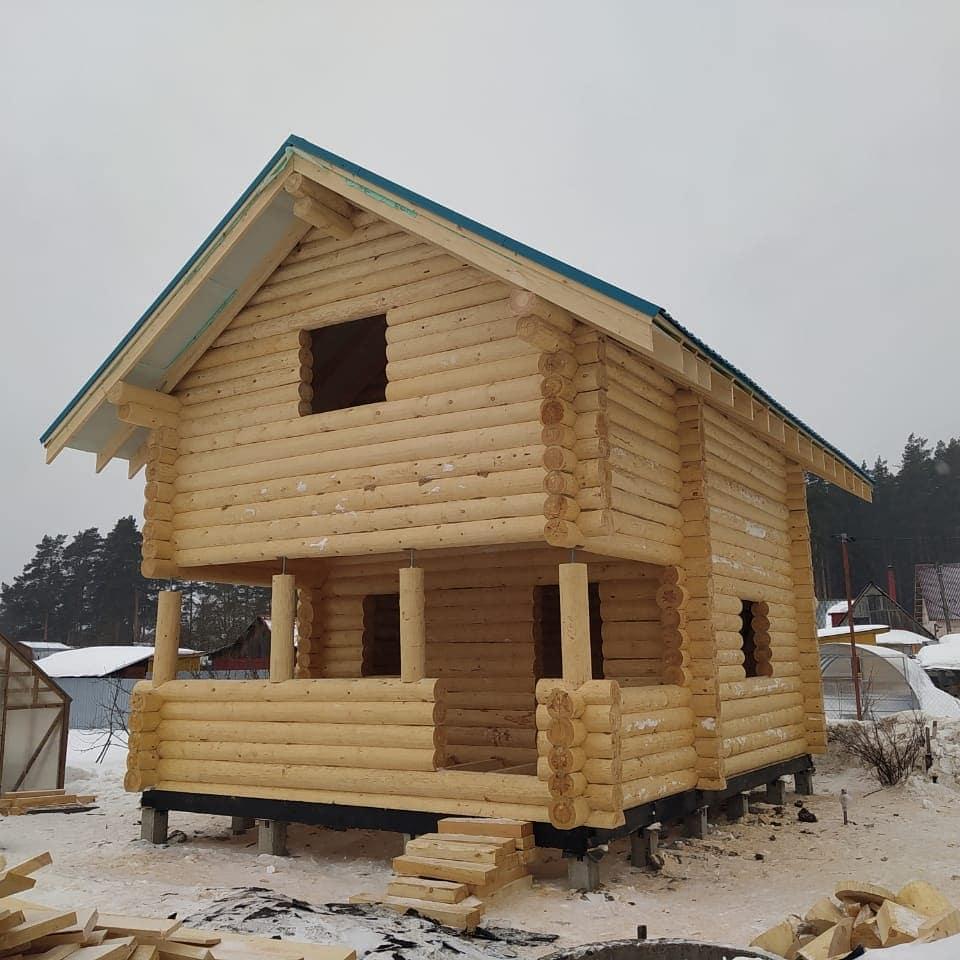 Фото: Дачный дом из остроганного бревна 240 мм. в Орехово-Зуево
