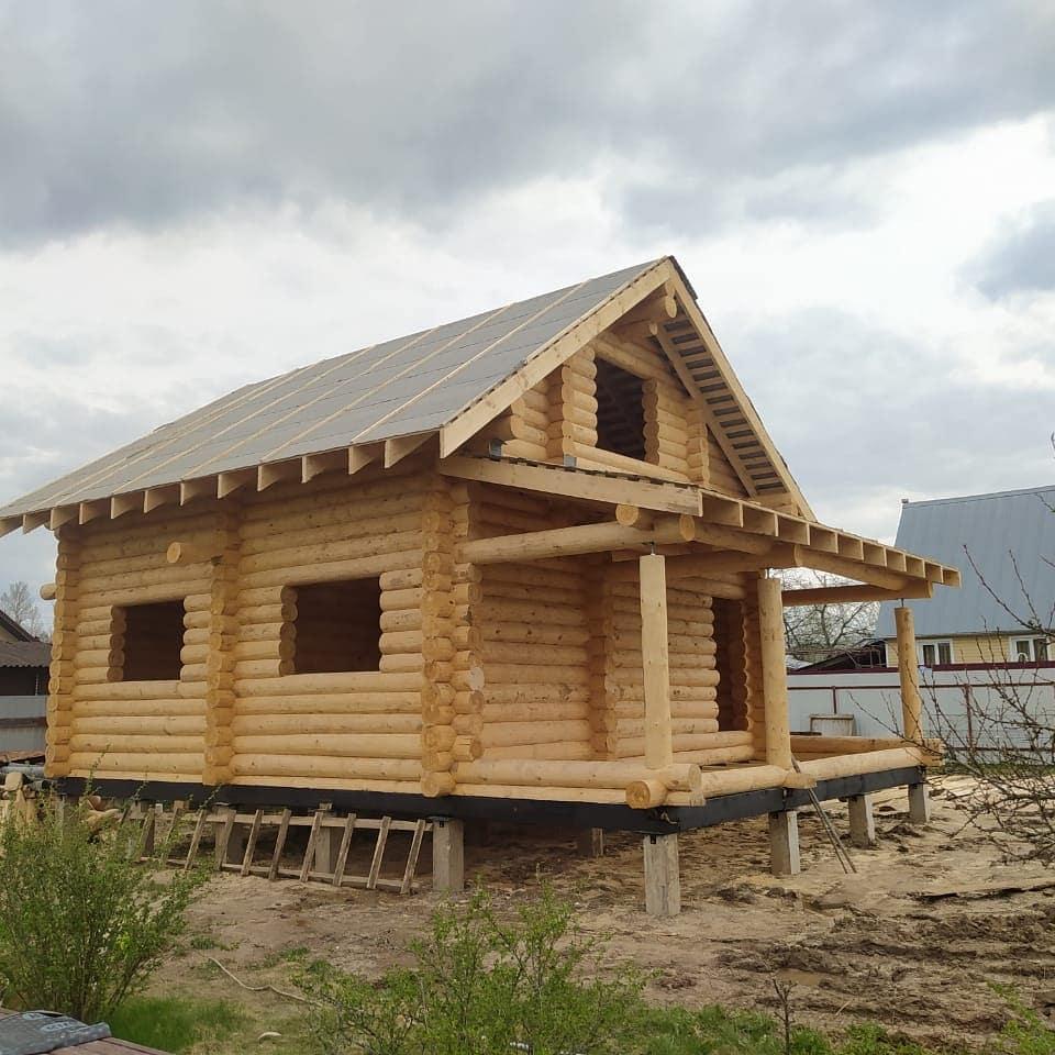 Фото: Дачный дом из сруба 6 на 9 с террасой и вторым светом в Ступинском районе МО