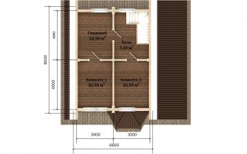 Фото #3: Красивый деревянный дом РС-171 из бревна