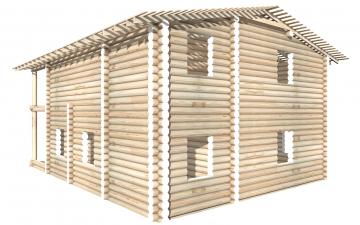 СТ-67 - Сруб 9х9 для дома или бани из бревна: цена от производителя (Киров)