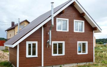 отделка деревянного дома имитацией бруса фото