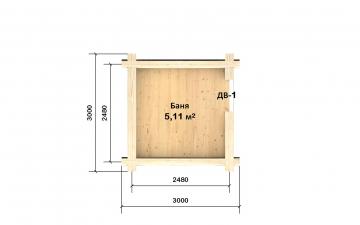 Планировка сруба СТ-1 3х3 из бревна