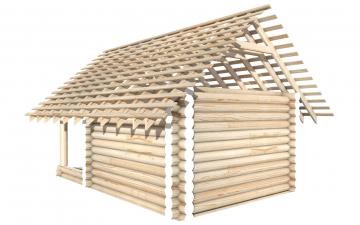 СТ-4 - Сруб 4х4 для дома или бани из бревна: цена от производителя (Киров)