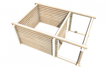 Рубленный сруб СТ-4 бани 4х4 или дома из бревна