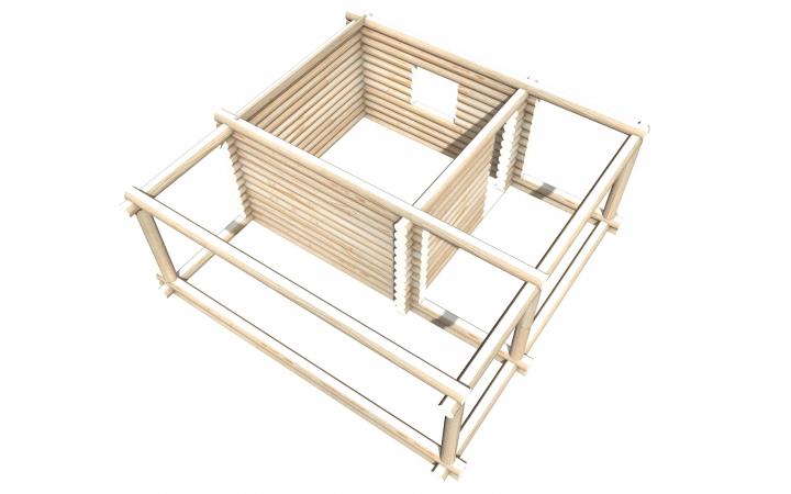 Рубленный сруб СТ-58 бани 4х4 или дома из бревна