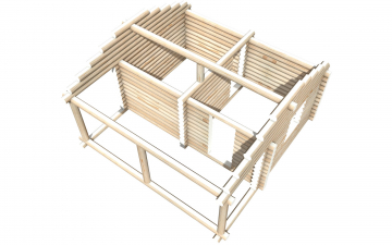 Рубленный сруб СТ-10 бани 6х4 или дома из бревна