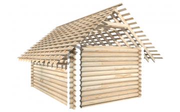 СТ-5 - Сруб 6х4 для дома или бани из бревна: цена от производителя (Киров)