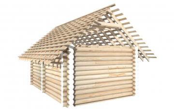 СТ-6 - Сруб 6х4 для дома или бани из бревна: цена от производителя (Киров)