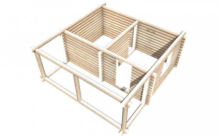 Рубленный сруб СТ-7 бани 6х4 или дома из бревна