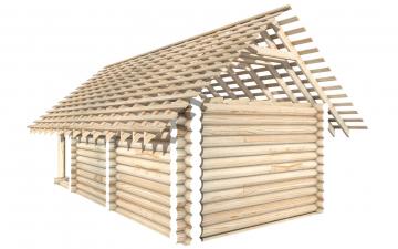 СТ-8 - Сруб 6х4 для дома или бани из бревна: цена от производителя (Киров)