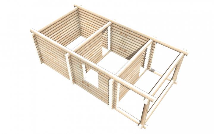 Рубленный сруб СТ-8 бани 6х4 или дома из бревна