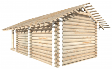 СТ-9 - Сруб 6х4 для дома или бани из бревна: цена от производителя (Киров)