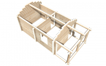 Рубленный сруб СТ-9 бани 6х4 или дома из бревна