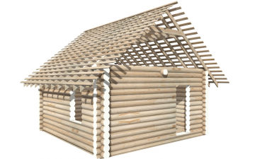 СТ-11 - Сруб 6х6 для дома или бани из бревна: цена от производителя (Киров)