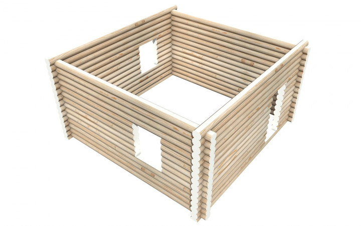 Рубленный сруб СТ-11 бани 6х6 или дома из бревна