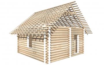 СТ-12 - Сруб 6х6 для дома или бани из бревна: цена от производителя (Киров)