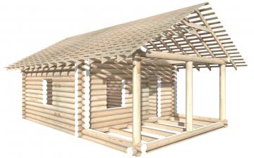 СТ-13 - Сруб 6х6 для дома или бани из бревна: цена от производителя (Киров)