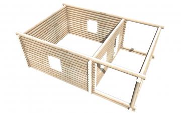 Рубленный сруб СТ-13 бани 6х6 или дома из бревна