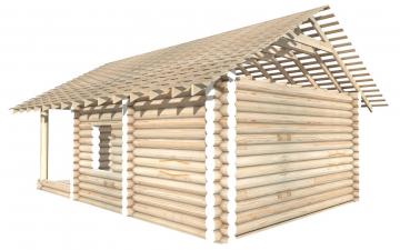 СТ-14 - Сруб 6х6 для дома или бани из бревна: цена от производителя (Киров)